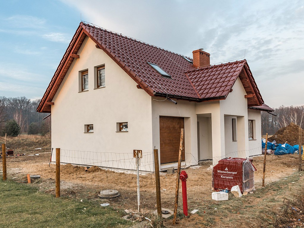 Dom z keramzytu - Inwestycja w Pątnowie Legnickim