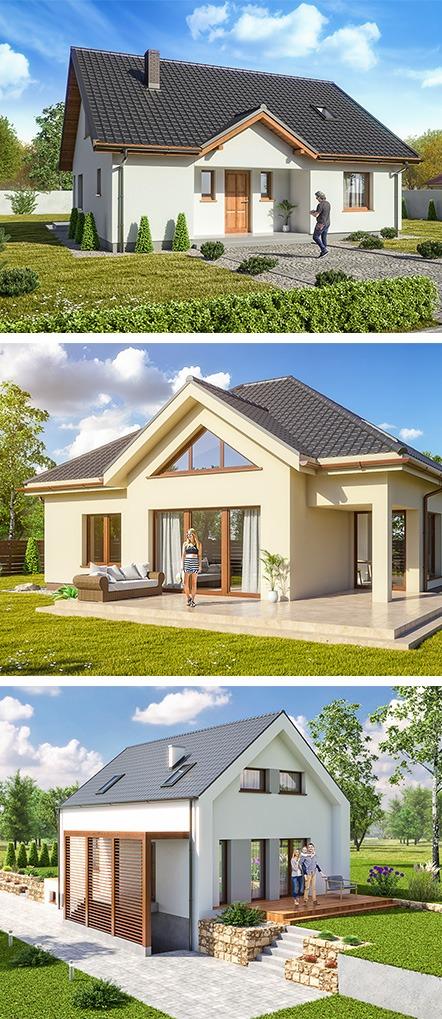 wizualizacje domów z keramzytu